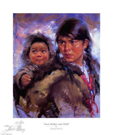 Harley Brown - Inuit Mother and Child