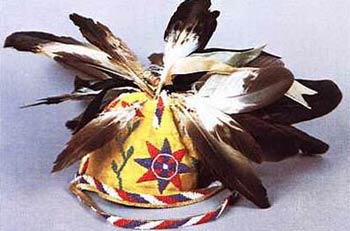 White Mountain Apache - Feathered War Cap