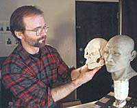Model of skull of Kennewick Man