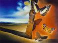 Salvador Dali - Landscape with Butterflies