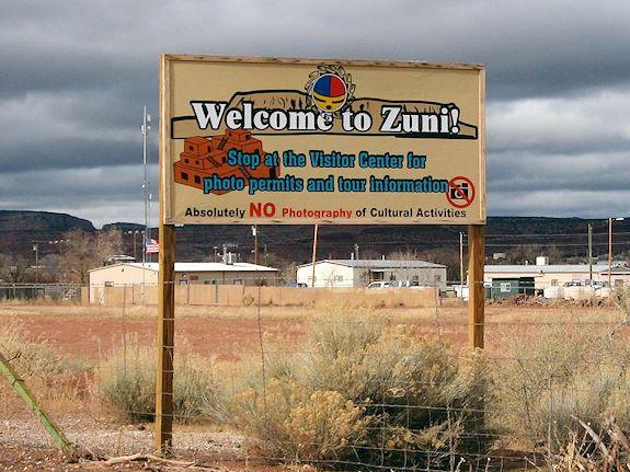 Zuni Reservation Sign