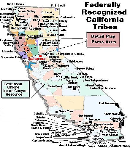 California Indian Reservations Map