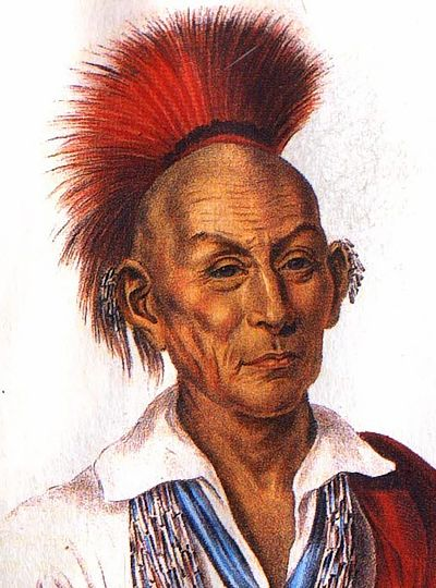 Sauk Chief Black Hawk, also known as Makataimeshekiakiak