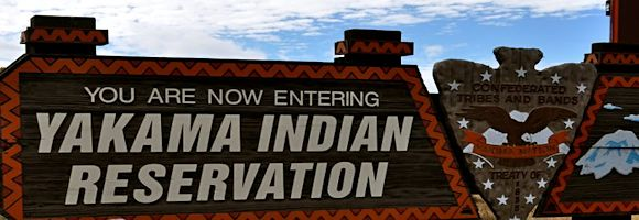 Yakama Indian Reservation sign