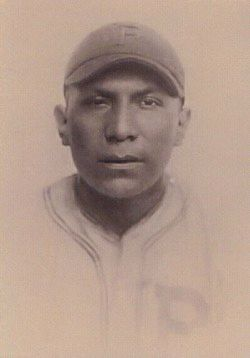 Moses Yellowhorse during his early baseball career