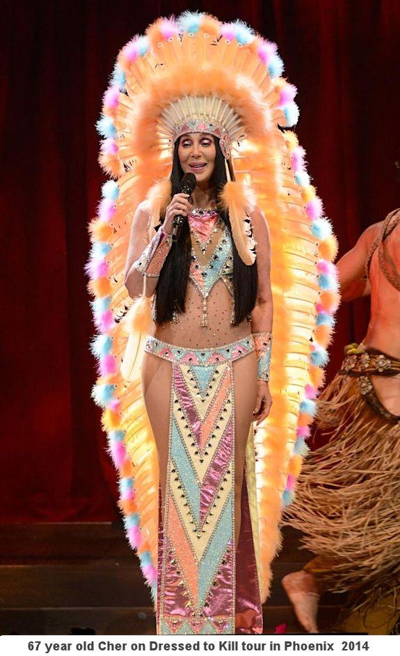 Cher in full headdress