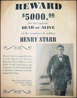 Henry Starr wanted poster