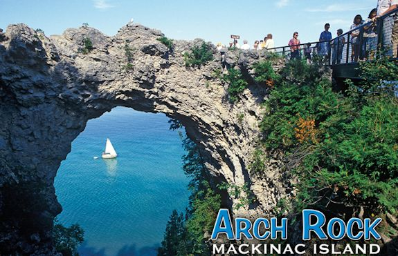Arch Rock on Mackinac Island, Ottawa legend