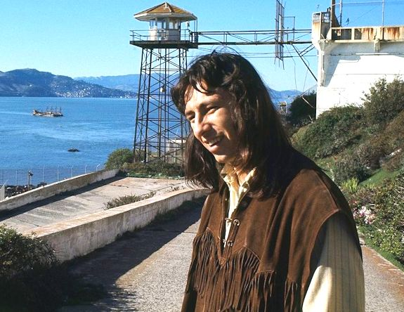John Trudell at Alcatraz