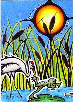 Frog and Crane