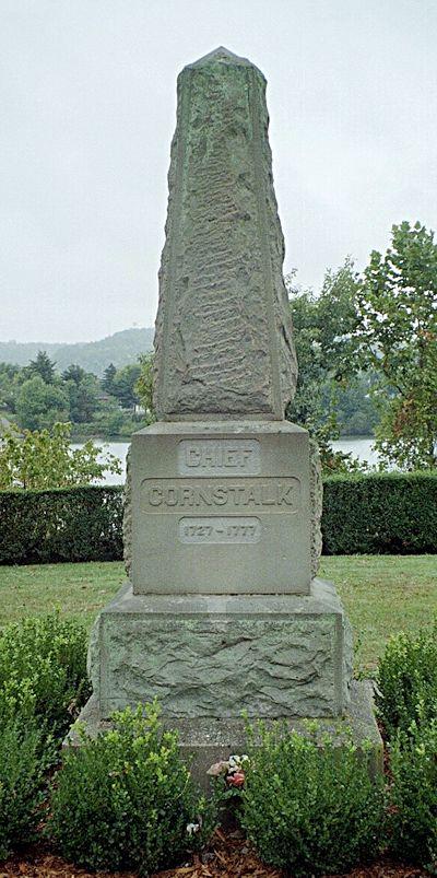 Monument commemorating the grave of Shawnee Chief Cornstalk